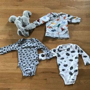 Baby Infant Bundle Onesie & Sweatshirt